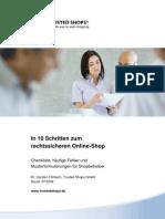 In 10 Schritten Zum Rechtssicheren Online Shop