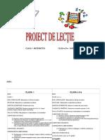 Proiect Matematica, Cl. Aiia