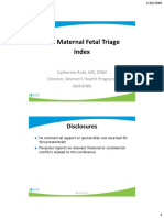 2 - Maternal Fetal Triage Index - Ruhl