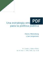 Mintzberg & Jorgensen Una Estrategia Emergente Para La PP 10 04 19