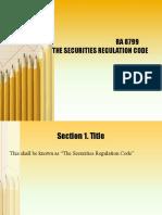 Securities and Regulations Code