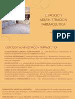 Ejercicio y Administracion Farmaceutica