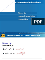 10-1 Intro to Conic Sections- class.ppt