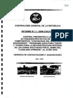 Control Preventivo Proyectos Forsur Infor Nº012 2008 Cg CA Ve