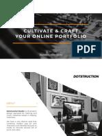 Cultivate & Craft Your Online Portfolio