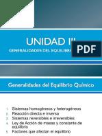 UNIDAD III Equilibrio Químic