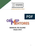 Manual Do Aluno Programa Mentores - 2019
