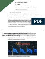 AliExpress, Denunciada Por Condiciones Abusivas y Violar Leyes Europeas