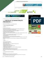. Checklist de Manutenção Preventiva.