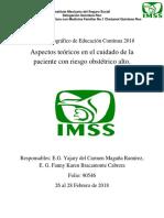 Curso Monográfico de Educación Continua Riesgo Obstetrico Alto