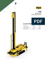 77XR Blasthole Drill Specification Sheet