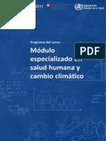 Modulo Especializado en Salud Humana y Cambio Climatico Programa Del Curso 1