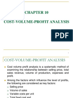 Chapter 10 Cost-Volume-profit Analysis