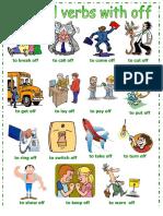 Phrasal verbs más utilizados con off