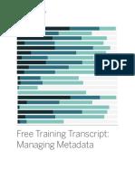Managing Metadata