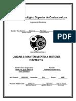 Mantto a Motores Electricos y Electronicos u2 Bruno a. Valencia