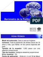 BARÓMETRO DE LA POLÍTICA CERC-MORI Mayo 2019