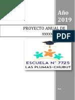 Formato de Proyecto Anual 2019