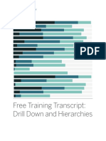 Drill Down and Hierarchies