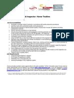 QA Inspector Home Textiles