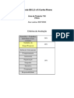 Crit+®rios de Avalia+º+úo TIC8