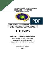 Coaching y Desempeño Docente Tesis Cuasiexperimental
