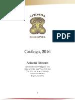 Catálogo Apidama Ediciones