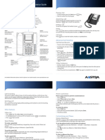 Aastra 6731i Quick Reference Guide Engels