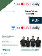 [L1] Gauss's Law 28 April