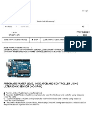Automatic Water Level Indicator and Controller Using