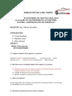 Cuestionario  Globalizacion, Empresa y Su Entorno