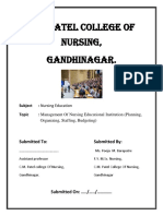 Management of Nursing Educational Institution