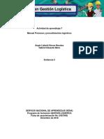 Evidencia 5 Manual Procesos y Procedimientos Logísticos
