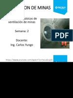 Sesión 2 - Leyes Básicas de La Ventilación de Minas