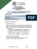 Solución Evaluación Final Gerencia de Operaciones