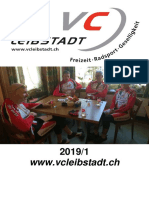 Vereinsheft Veloclub Leibstadt 2019/1