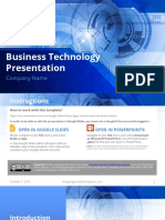 FGST0001 - Formal Blue Technology Business Presentation