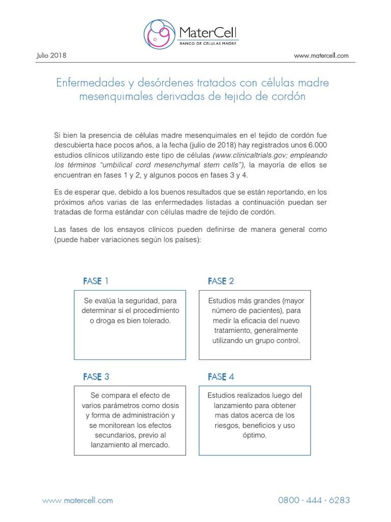 diabetes tipo 1 ensayos con células madre para el autismo