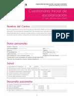 Cuestionario Inicial de Escolarización - Junta de Andalucía
