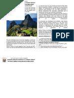Fecha Cívica Dia Macchu Picchu