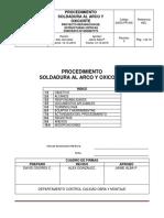 24003-Pr-006 Soldadura Al Arco y Oxicorte Rev.0