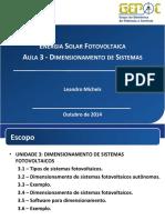 Curso PV - Aula 3 - Dimensionamento de Sistemas 1