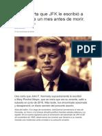 Lee La Carta Que JFK Le Escribió a Su Amante Un Mes Antes de Morir
