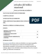 Conflictos derivados del tráfico jurídico internacional
