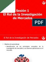 Sesión 1 - El Rol de la Investigación de Mercados