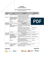 Programa Seminario Medios Locales en las Políticas de Comunicación en América Latina