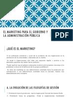 El Marketing Para El Gobierno y La Administración