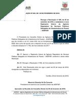 RESOLUCO N 003 2018 Novo Regimento Interno Da Agepar