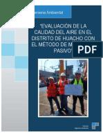 Grupo N° 02_Proyecto N° 01_Evaluación de la calidad del aire en el distrito de Huacho con el método de muestreo pasivo_CCA_VIII_06-07-2018