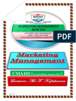Marketing Management Notes PDF
